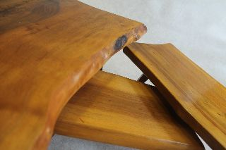 Set Of 3 Freeform Mid Century Modern Tables Austria Nakashima Eames Aubock Era photo