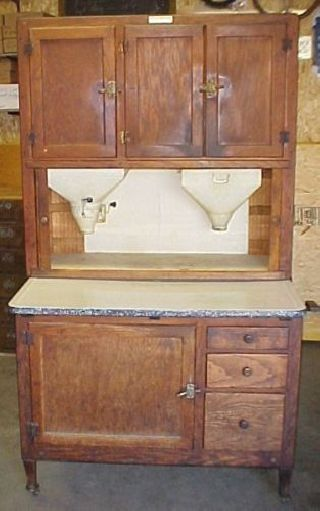 Hoosier Cabinet All Finish 1920 ' S Great Find photo