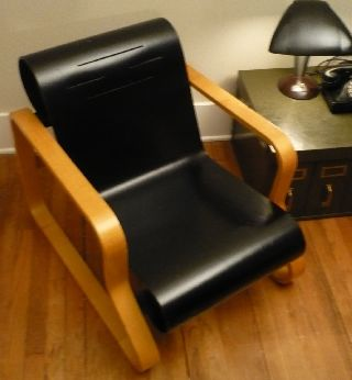 Classic Vintage Alvar Aalto Paimio Scroll Chair Mid Century Art Deco Modernism photo