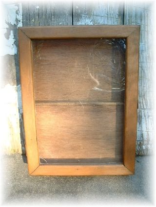 Antique Counter Top Old Wooden Display Cabinet Case Dentistry Jewelry Store photo