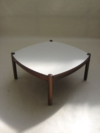Rosewood Coffee Table Reversible Top Danish Modern Jacobsen Juhl Eames Knoll Era photo