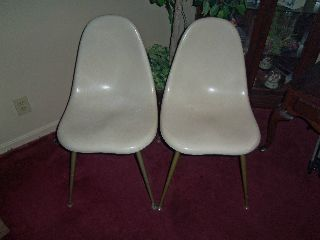Vintage Pair Of Chromcraft Fiberglass Chairs photo