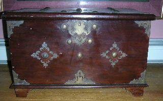 Antique 17th C.  Portuguese Money Chest With Key photo
