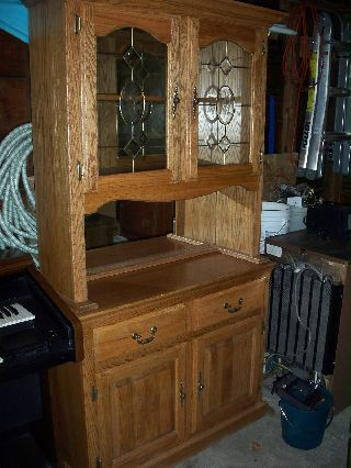 Oak Finish China Cabinet photo