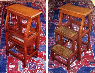 Unusual Mahogany Metamorphic Stool & Library Steps,  C.  1840 photo