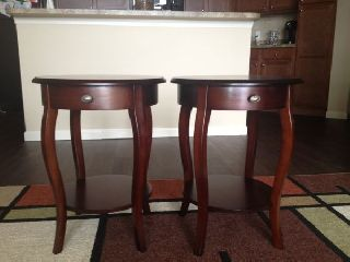 Pier One Imports,  Cheery Wood End Tables.  Brand New photo