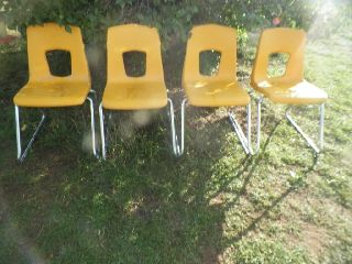 Vintage Mid Century Modern Artco - Bell Chairs - Hard Plastic photo