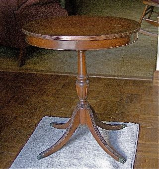 Antique Cherry Oval Side Table.