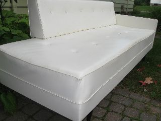 Mid Century Modern White Sofa 1960 ' S Retro Vintage Couch Mad Men Eames Era photo
