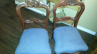 Two (2) 1800 ' S Victorian Bubble Back Chairs photo