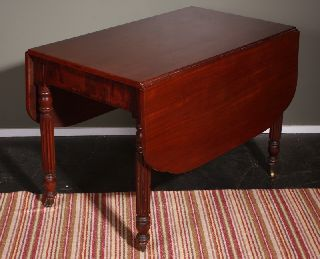 Mahogany Drop Leaf Table photo