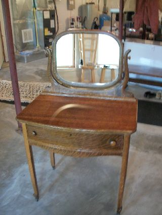 Antique Solid Tiger Oak Vanity photo