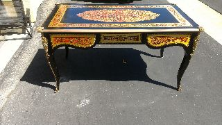 Italian Baroque Desk With Metal Inlays photo