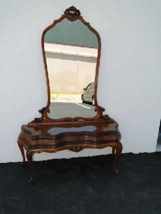 Antique Italian Vanity With Mirror photo