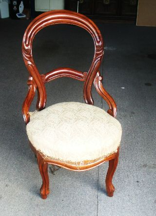 Victorian Walnut Side Chair Rocco Style photo