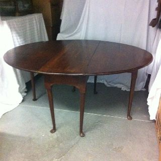 Georgian Drop Leaf Gateleg Table,  Probably Mid 18th Century,  Refinished Antique photo