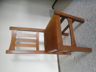 Mission Style Oak Chair photo