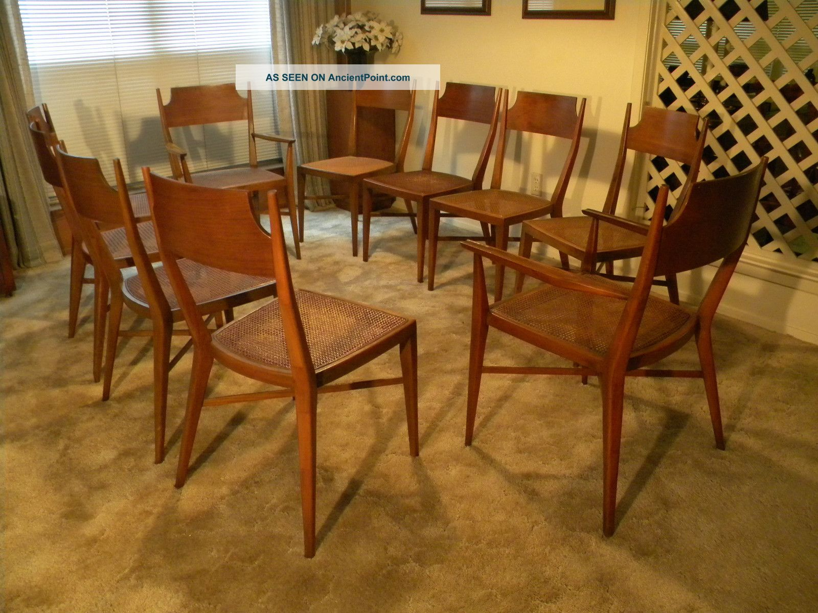 Mid 1950 ' S Calvin Furniture Dining Room Chair Set - - Designed By Paul Mc Cobb Post-1950 photo