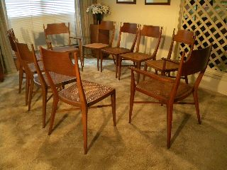 Mid 1950 ' S Calvin Furniture Dining Room Chair Set - - Designed By Paul Mc Cobb photo