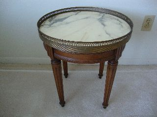 Vintage Marble Top Occasional Table photo