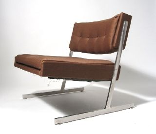 Mid Century Harvey Probber Minimalist Lounge Chair Eames Knoll Era Sold As - Is photo