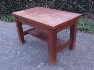 Antique Quartersawn Craftsman / Mission Style Oak Writing Desk photo