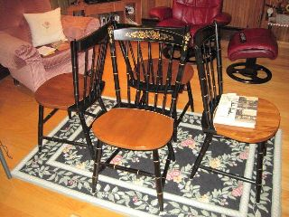 Set Of Four Hitchcock Chairs,  1952??,  Mint Condition photo