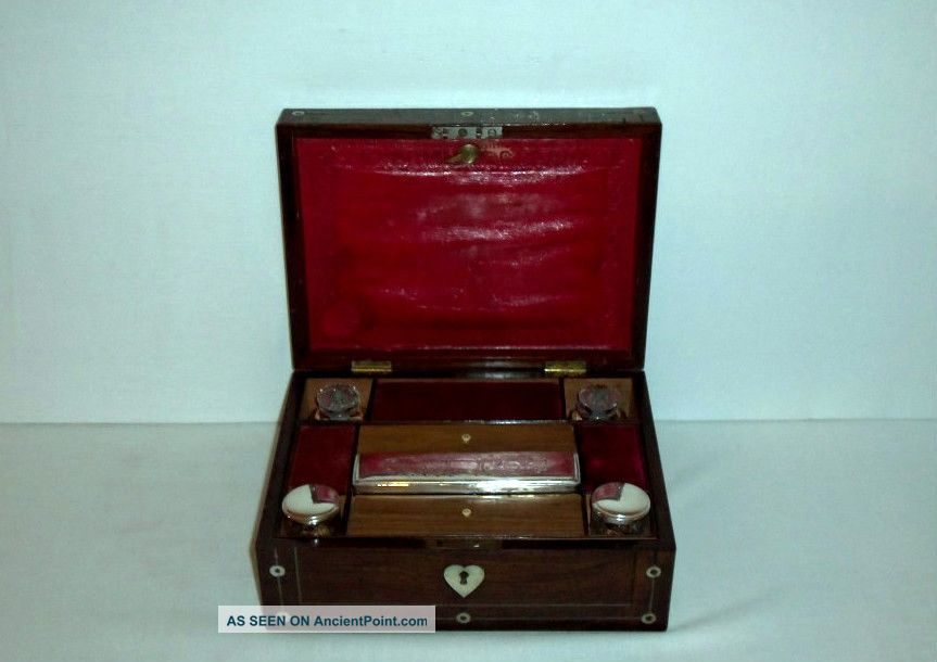 Antique Travel Writing Box Early 1800 ' S 1800-1899 photo