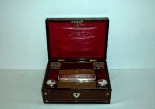 Antique Travel Writing Box Early 1800 ' S photo
