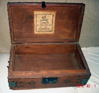 Aafa Early Important 1800s Trunk M.  Vandenburgh Coxsackie New York photo