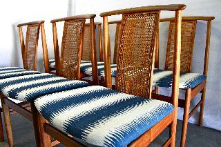 Set 6 Danish Mid Century Walnut Dining Chairs Eames Modern Teak Moller Koefoeds photo