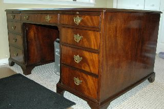 Antique Bankers Desk photo
