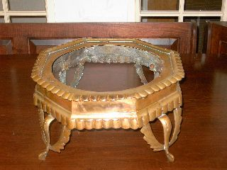 Antique~nouveau~brass~foot Stool Frame~1890 ' S~restoration Project~ photo