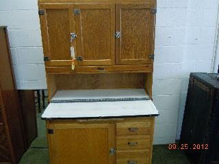 Sellers Kitchen Cabinet Oak With Flour Sifter,  Racks Bread Drawer More photo