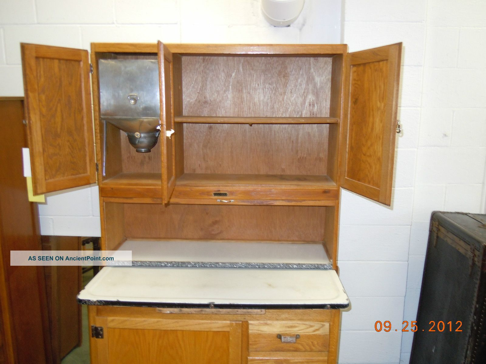 Sellers Kitchen Cabinet Oak With Flour Sifter Racks Bread Drawer More