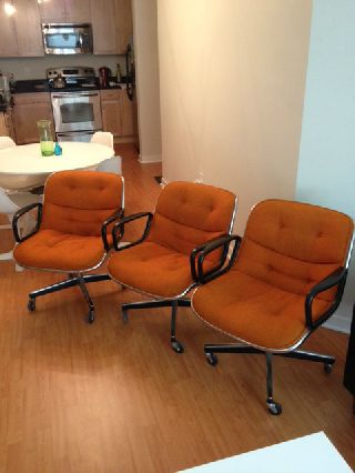 Mid Century Modern Knoll Executive Chairs photo