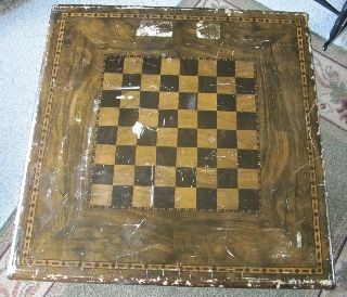 Vintage Card Table Shwayder Bros Checker Board 1930 ' S Samsonite photo