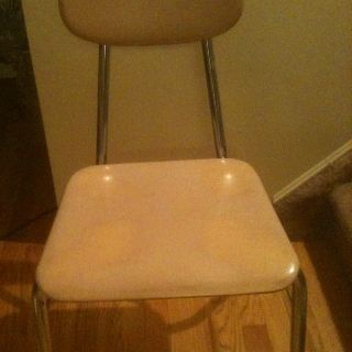 Vintage Child Size School Desk Chair photo