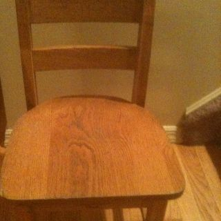 Vintage Cute Small Size Child ' S Wood School Desk Chair photo