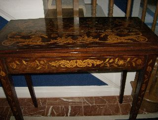 Federal Marquetry Card Table (1780 - 1810) Mahogany With Gorgeous Inlay photo