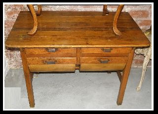 Antique 18c American Fruitwood Farmhouse Table Nr Sale photo