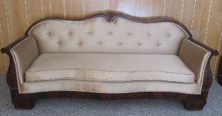 Auth Antique Mahogany New York Style Sofa Couch - photo