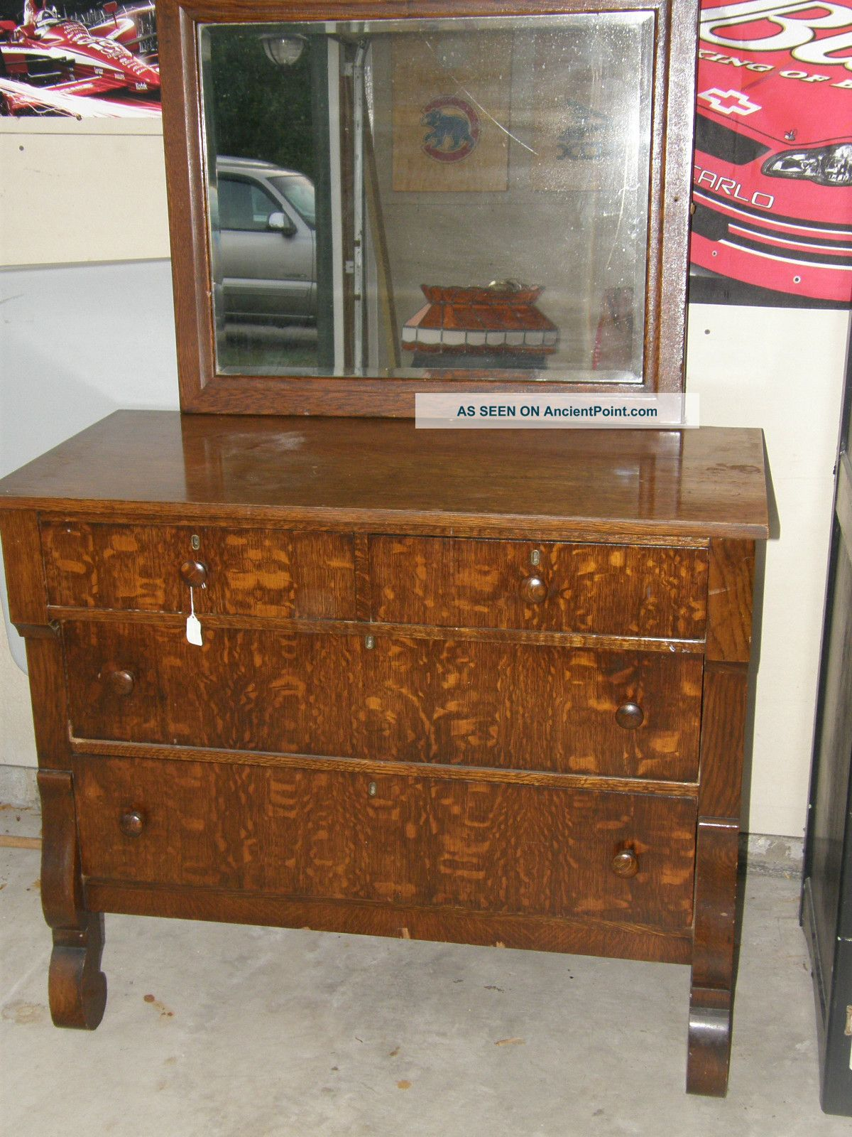 empire dresser with mirror from the early