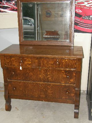 Empire Dresser With Mirror From The Early 1900 ' S photo