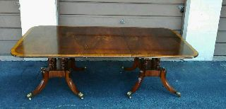 Antique English Double Pedestal Dining Table From Keith Skeel Antiques In London photo