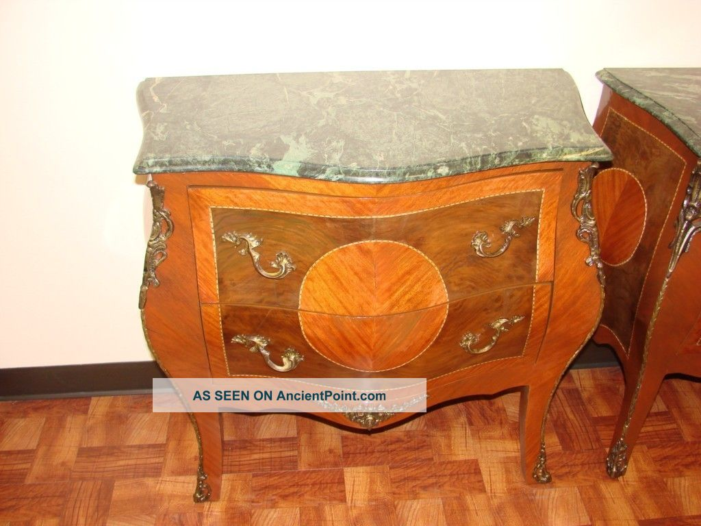 Louis Xv Style Marble Top Commode Chest/bombe 1900-1950 photo