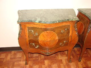 Louis Xv Style Marble Top Commode Chest/bombe photo