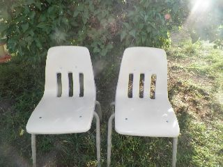 Vintage Mid Century Modern Virco Chairs - Hard Plastic photo