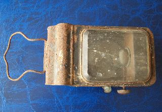 Antique / Old Vintage Metal Oil Hand Lamp For Restoration Railway Guards ? photo