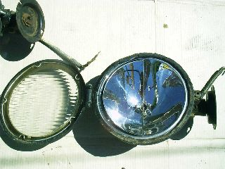 1 Pr.  Trippe Floodlights,  Spreadlight Lenses,  8 1/2